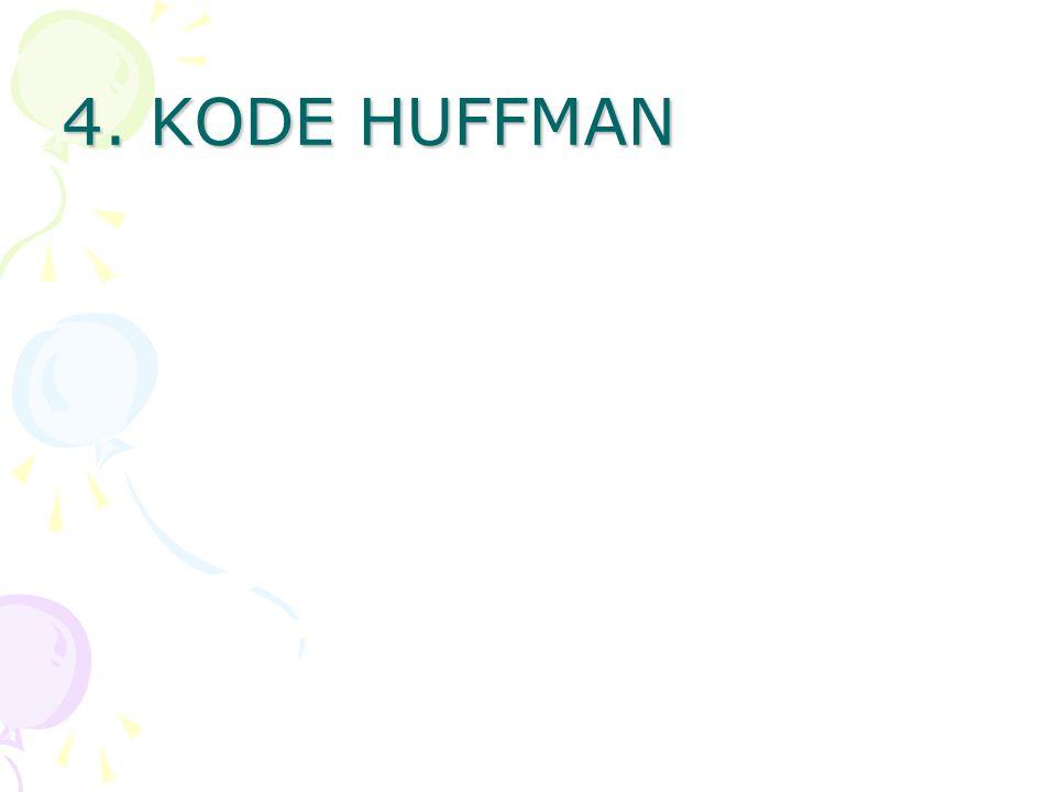 4. KODE HUFFMAN