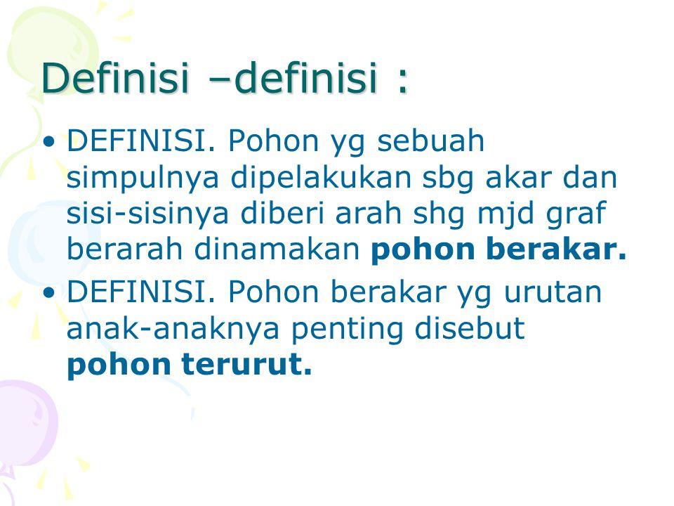 Definisi –definisi :