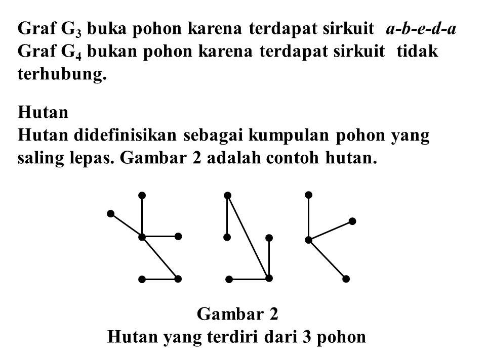 Graf G3 buka pohon karena terdapat sirkuit a-b-e-d-a