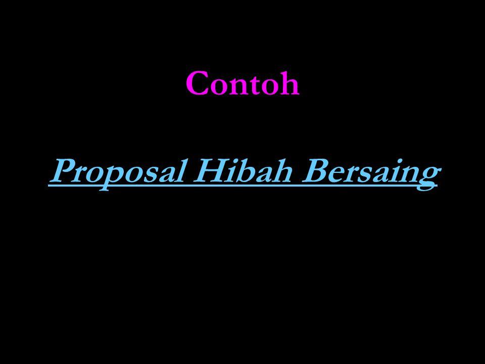 Contoh Proposal Hibah Bersaing