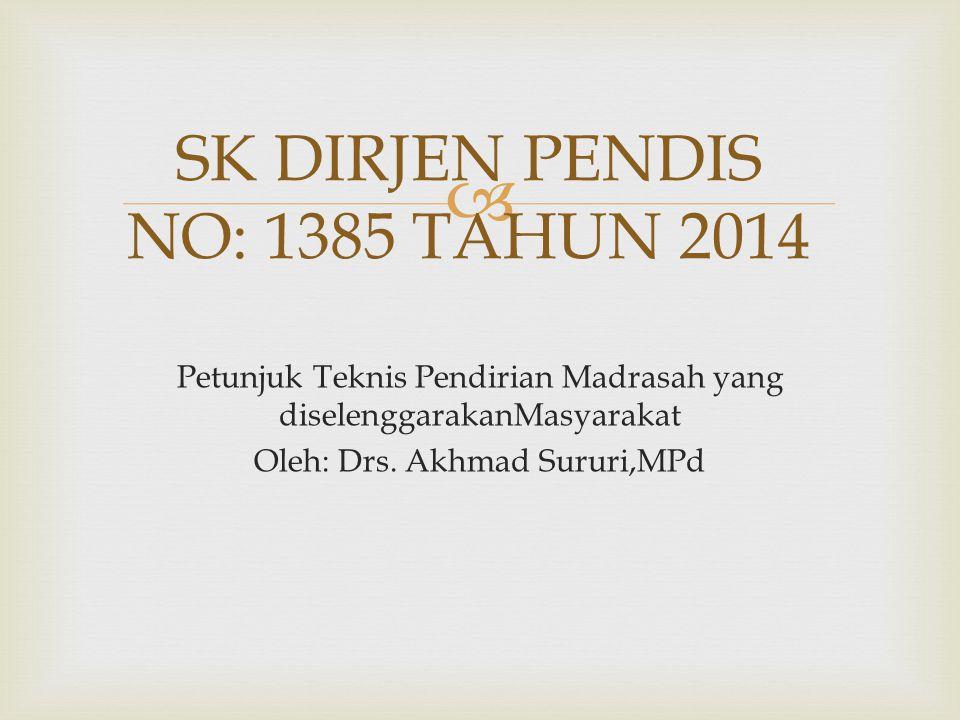 SK DIRJEN PENDIS NO: 1385 TAHUN 2014