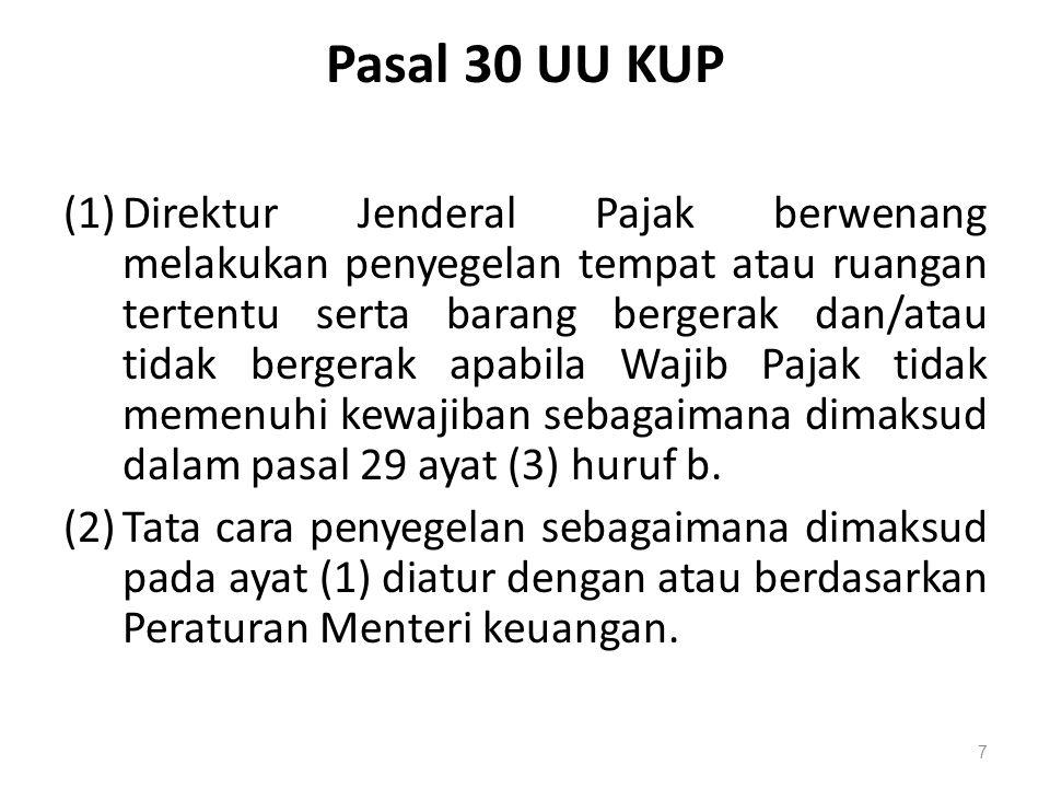 Pasal 30 UU KUP