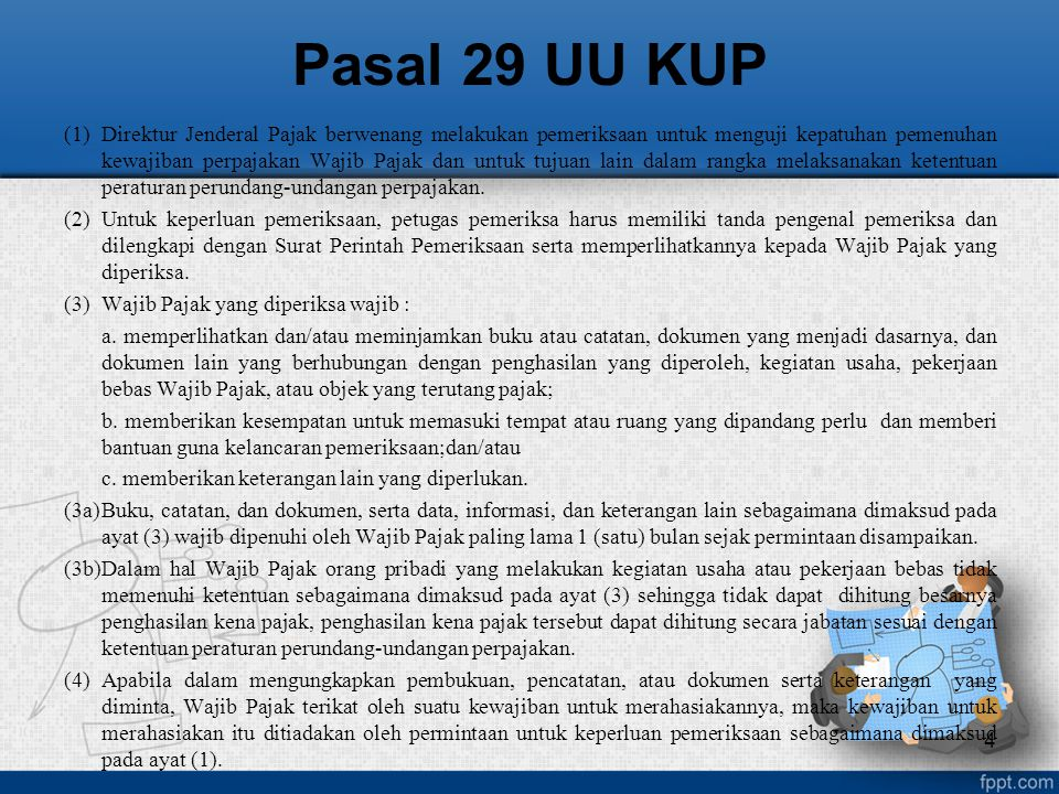 Pasal 29 UU KUP