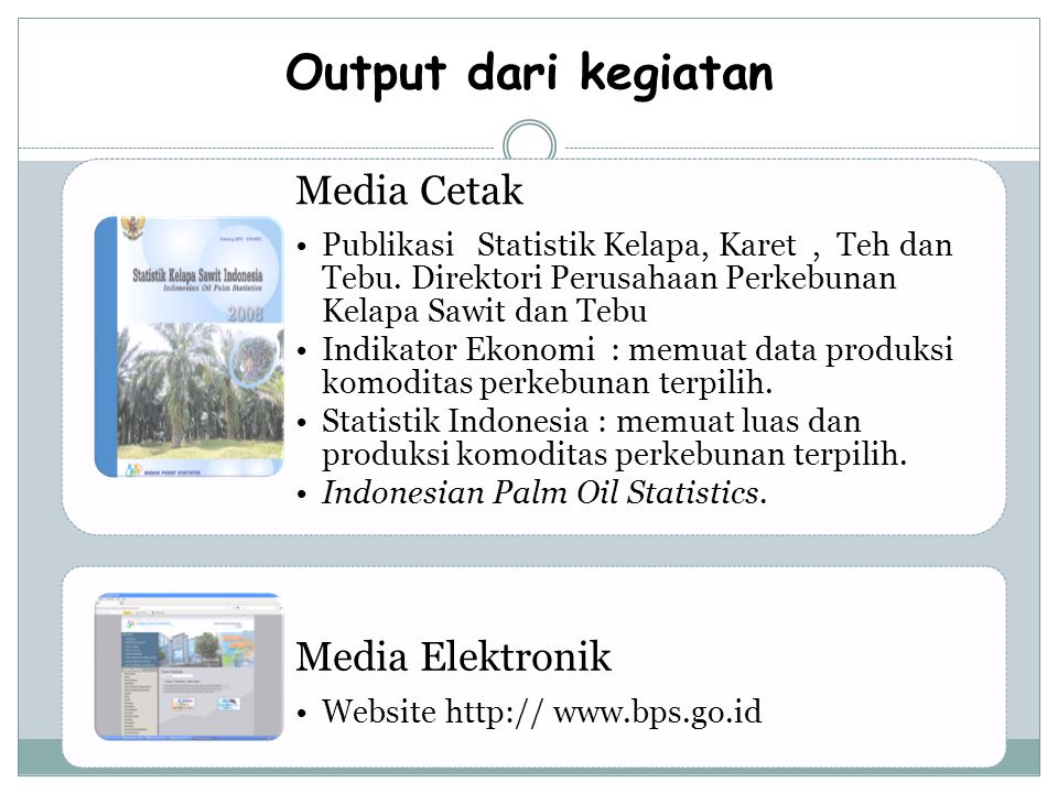 Output dari kegiatan Media Cetak