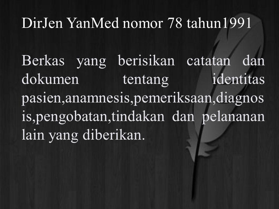 DirJen YanMed nomor 78 tahun1991