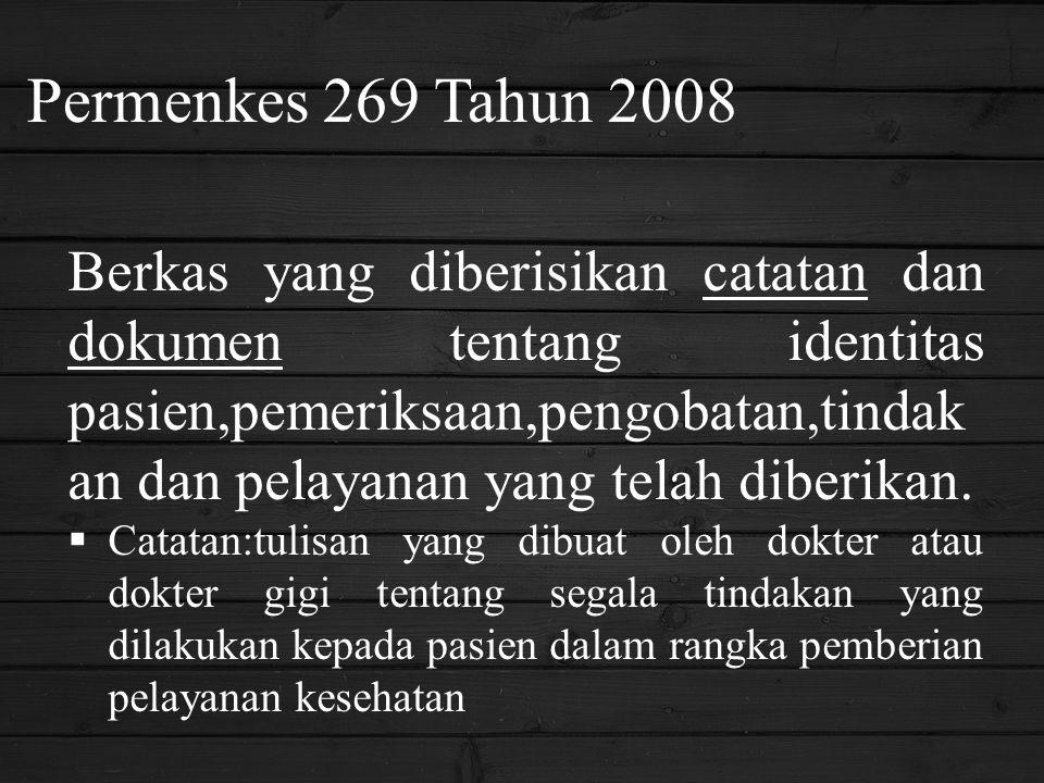 Permenkes 269 Tahun 2008