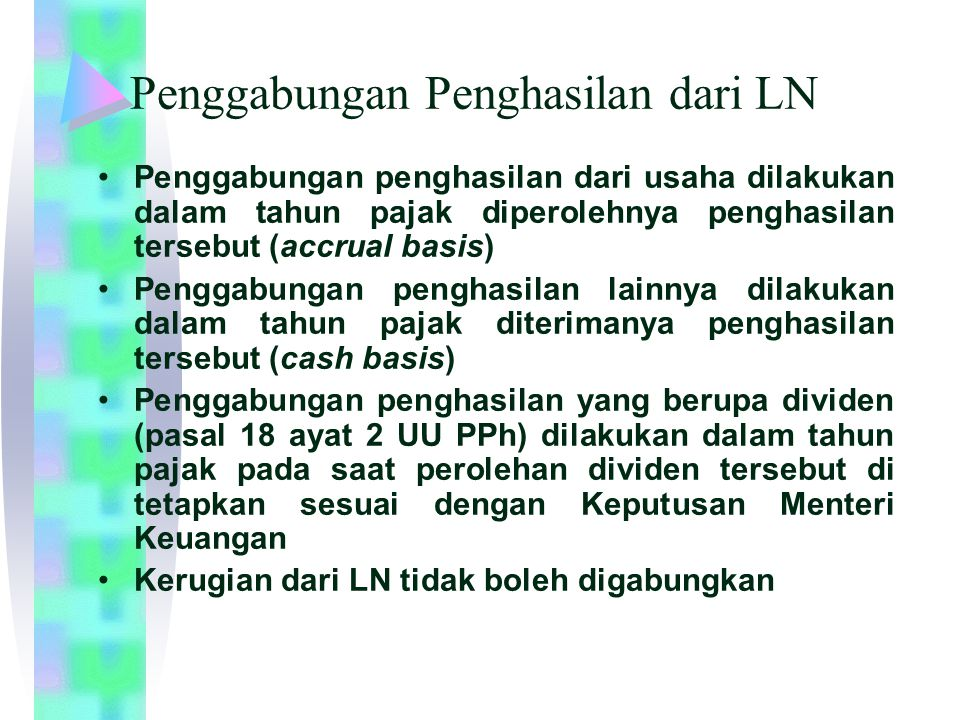 Penggabungan Penghasilan dari LN