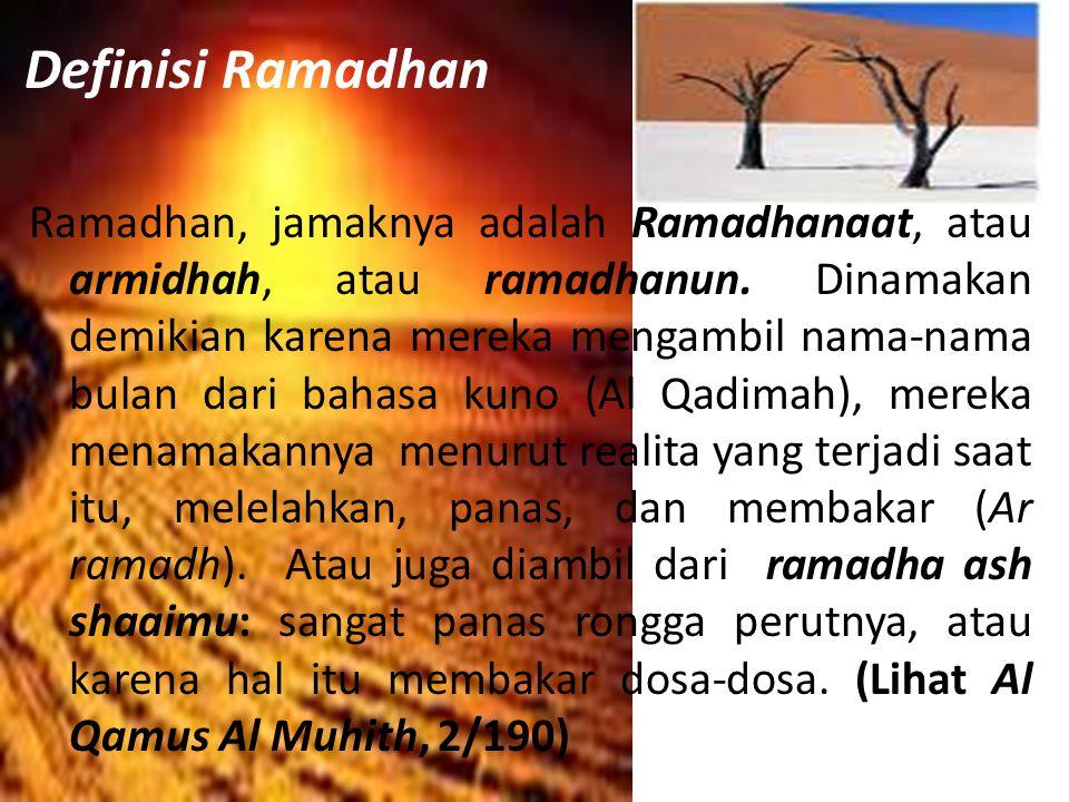 Definisi Ramadhan
