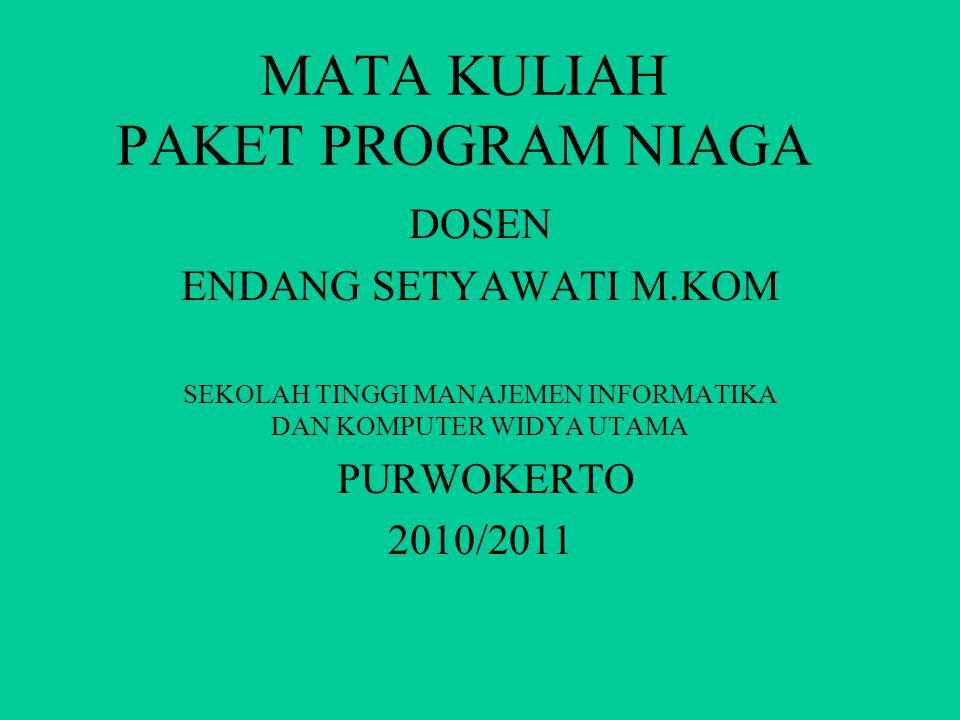 MATA KULIAH PAKET PROGRAM NIAGA