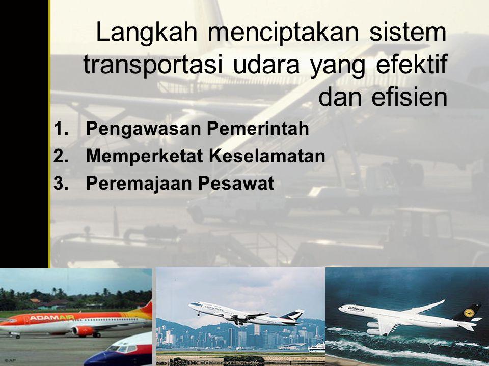 Langkah menciptakan sistem transportasi udara yang efektif dan efisien