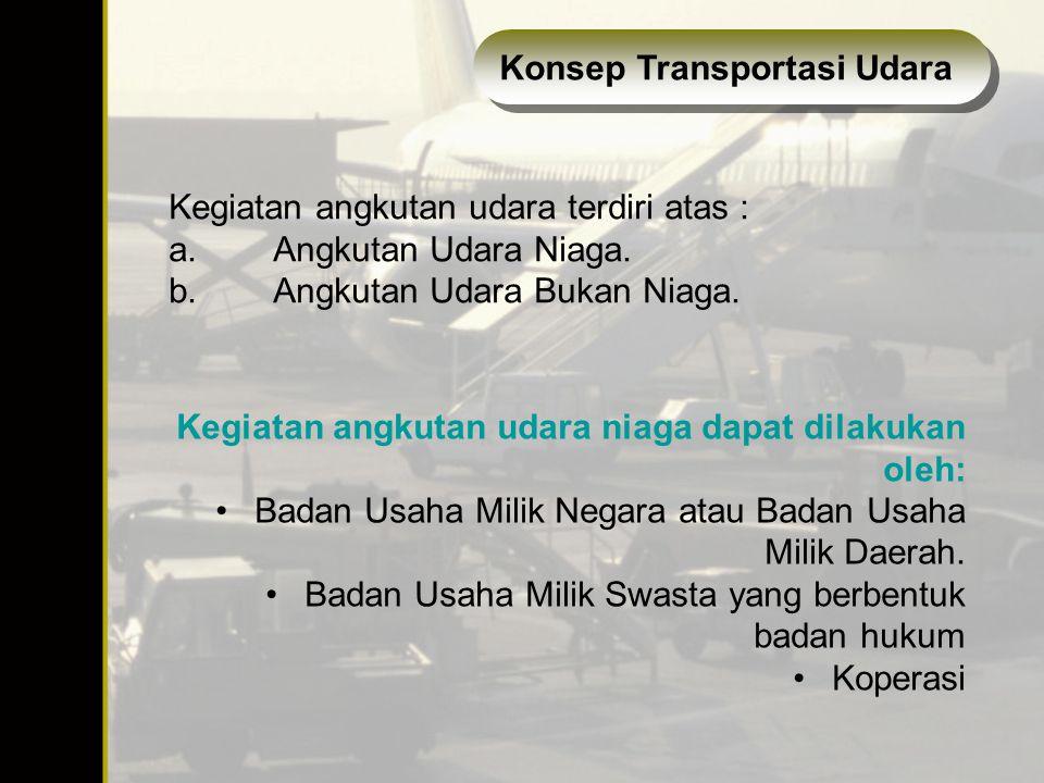 Konsep Transportasi Udara