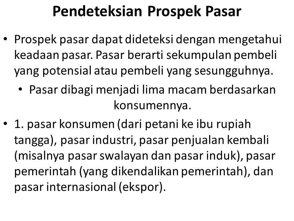 Pendeteksian Prospek Pasar
