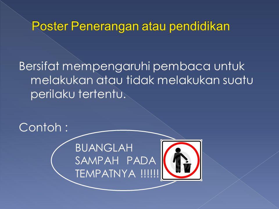 Poster Penerangan atau pendidikan