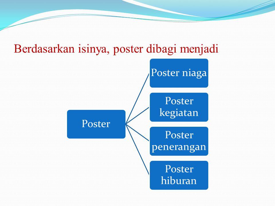 Berdasarkan isinya, poster dibagi menjadi
