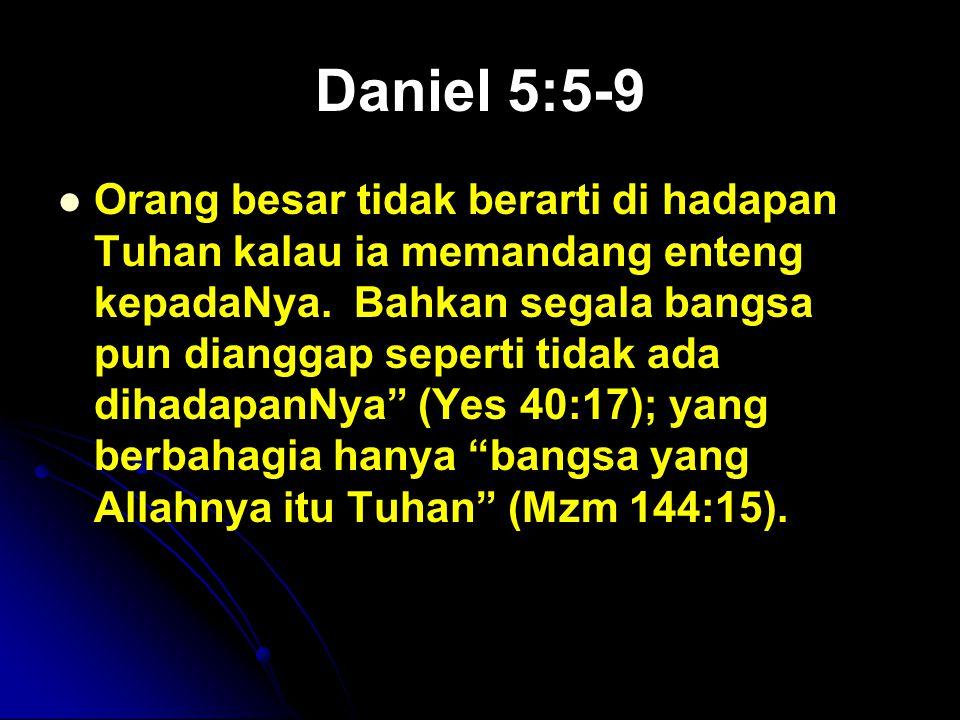 Daniel 5:5-9