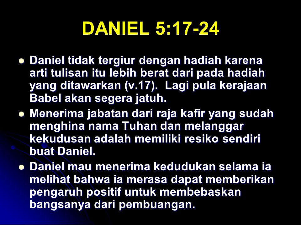DANIEL 5:17-24