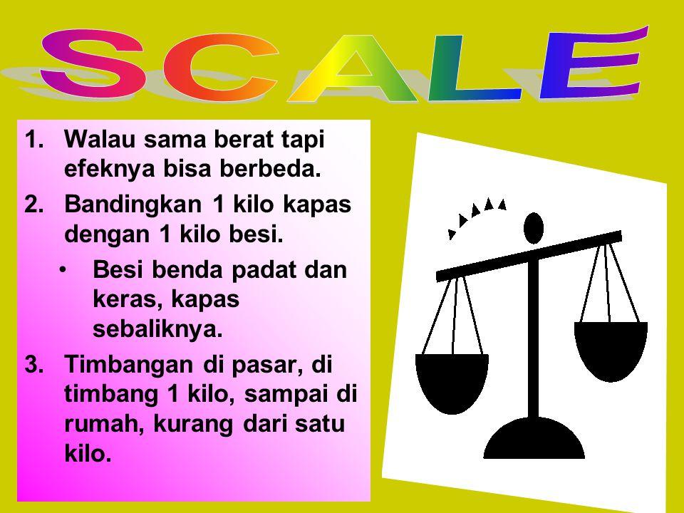 SCALE Walau sama berat tapi efeknya bisa berbeda.