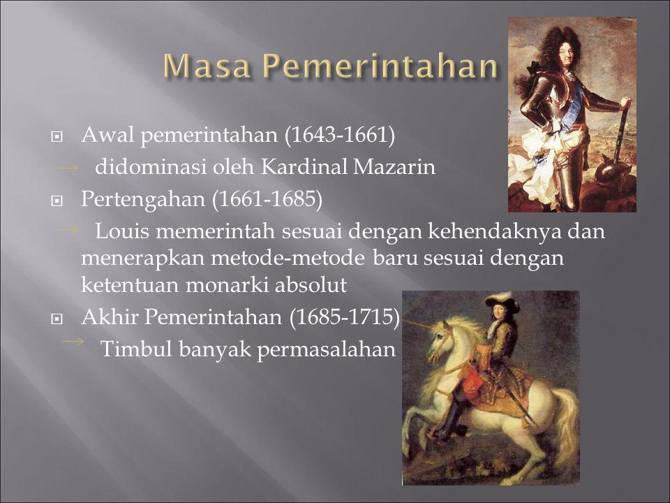 Masa Pemerintahan Awal pemerintahan (1643-1661)
