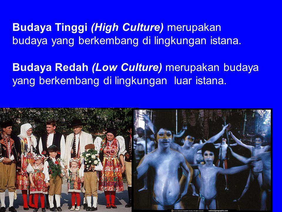 Budaya Tinggi (High Culture) merupakan budaya yang berkembang di lingkungan istana.
