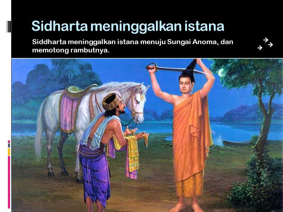 Sidharta meninggalkan istana