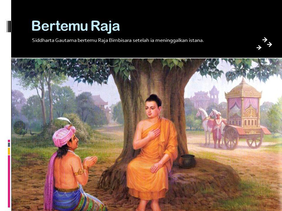 Bertemu Raja Siddharta Gautama bertemu Raja Bimbisara setelah ia meninggalkan istana.