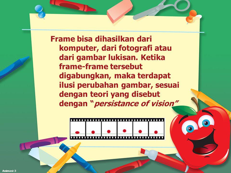 Frame bisa dihasilkan dari komputer, dari fotografi atau dari gambar lukisan.