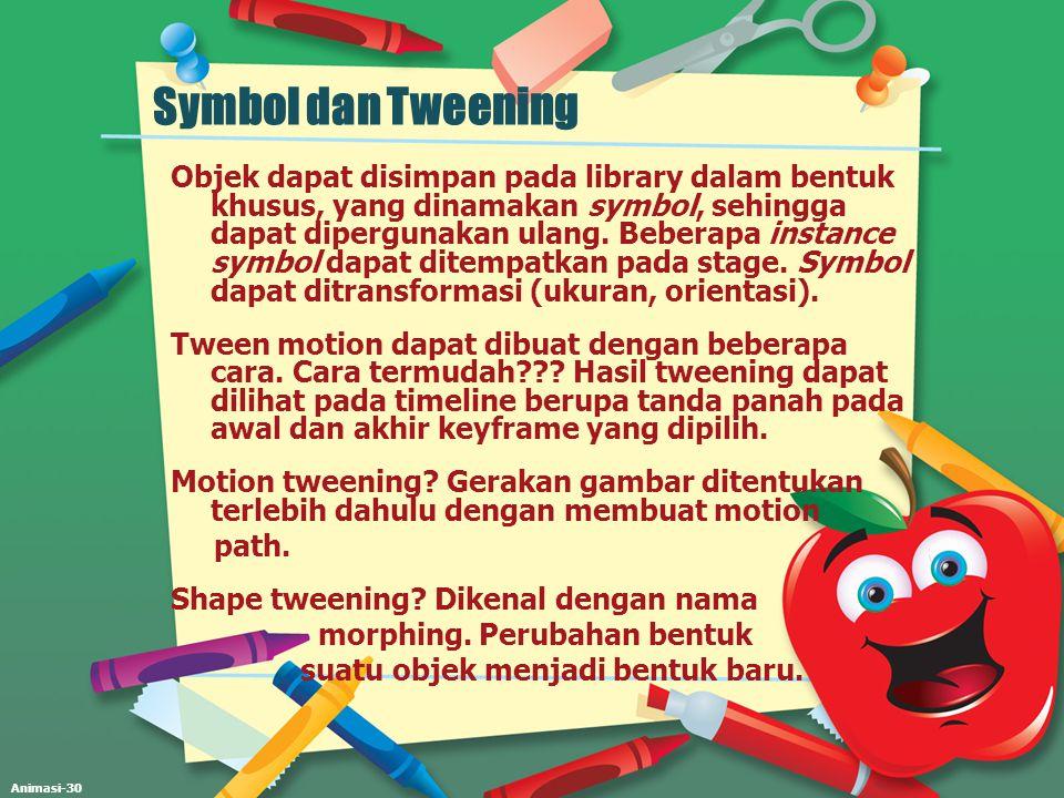 Symbol dan Tweening