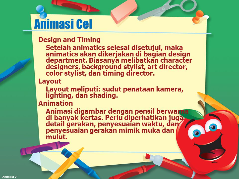 Animasi Cel Design and Timing