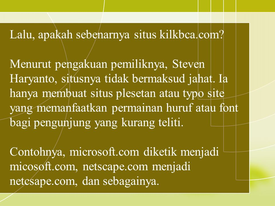 Lalu, apakah sebenarnya situs kilkbca.com