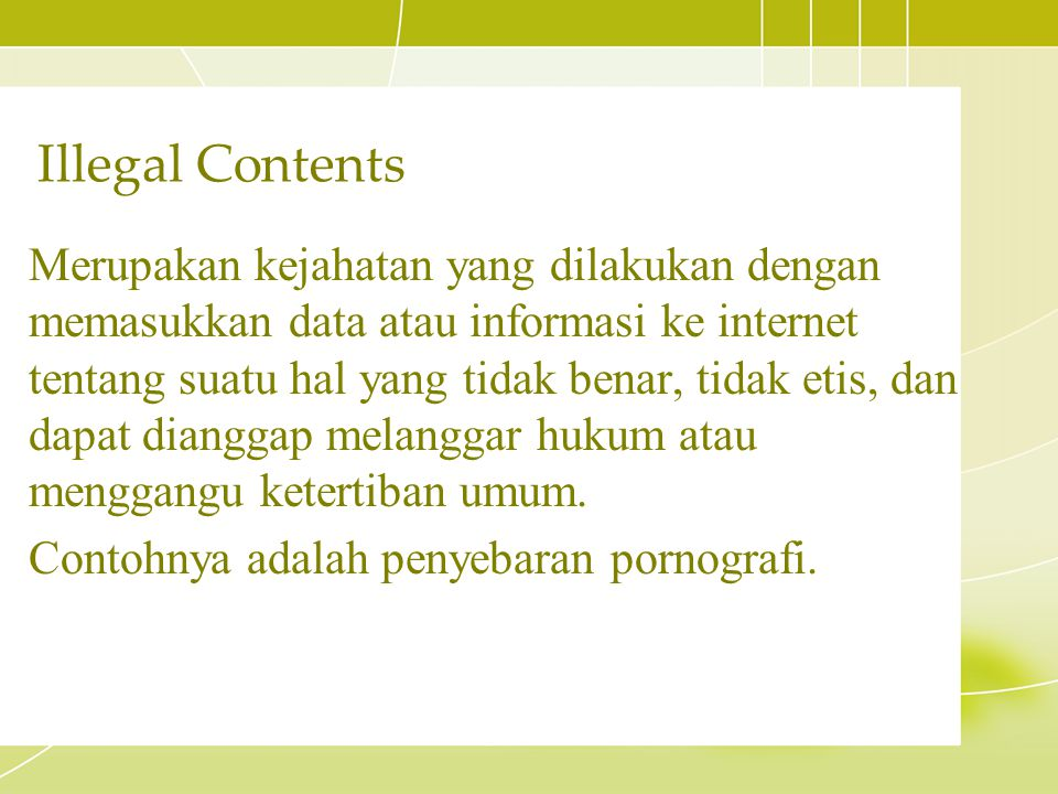 Illegal Contents