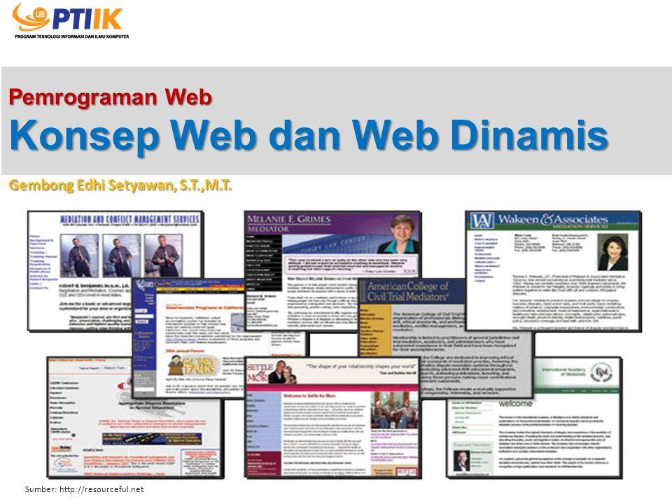 Pemrograman Web Konsep Web dan Web Dinamis