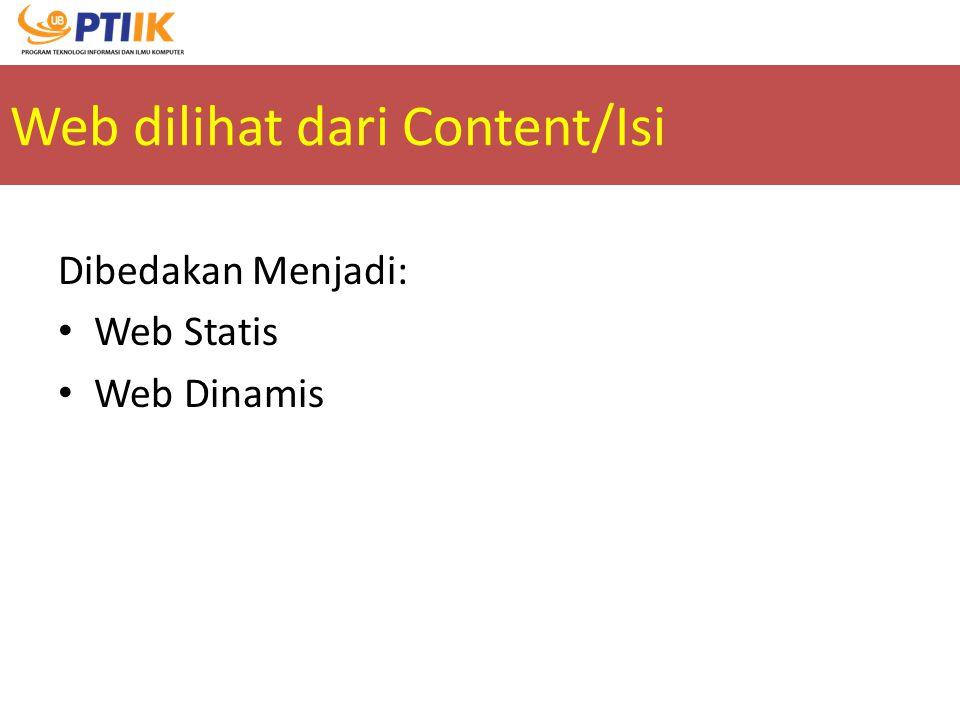Web dilihat dari Content/Isi