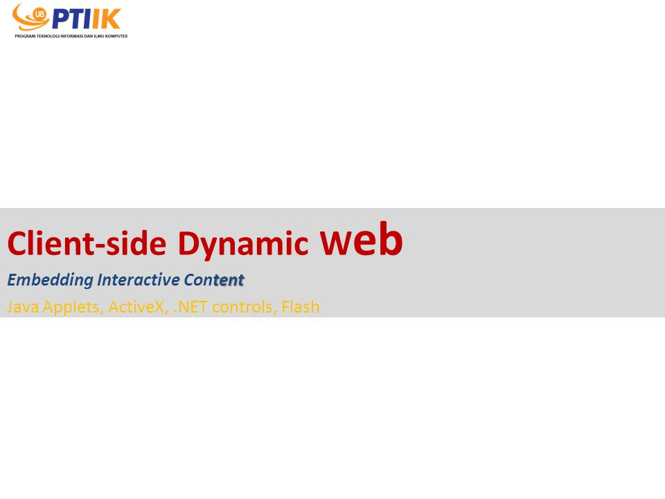 Client-side Dynamic Web Embedding Interactive Content