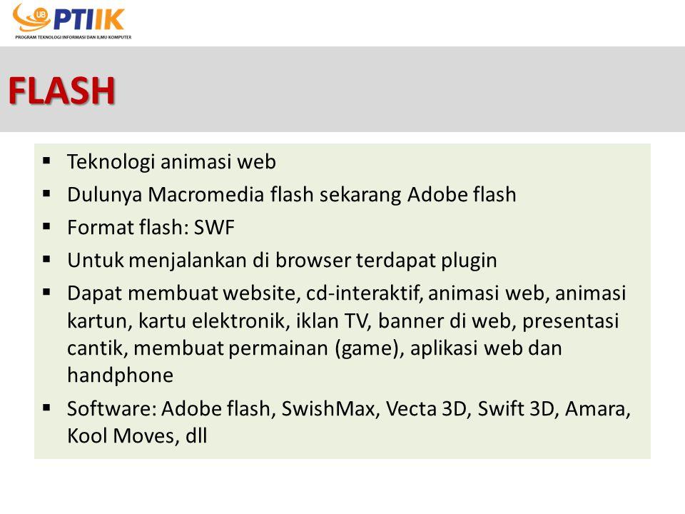 FLASH Teknologi animasi web