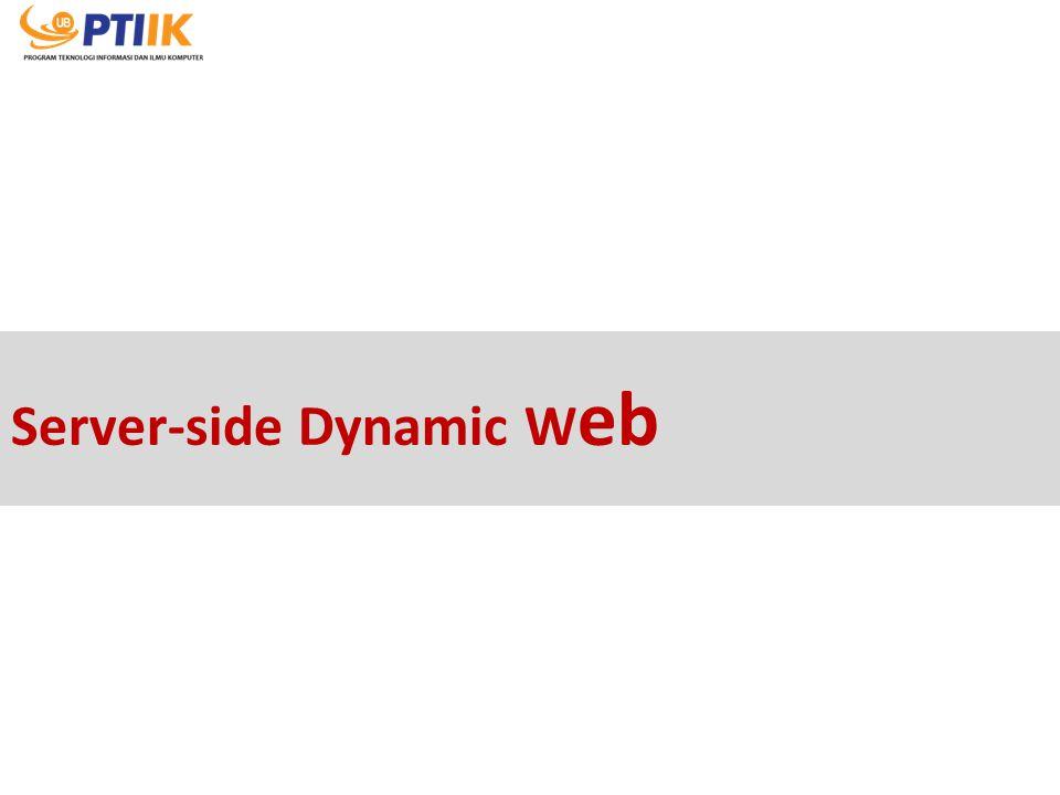 Server-side Dynamic Web