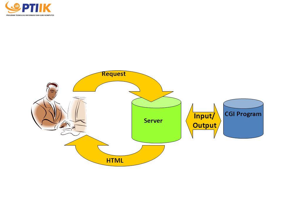 Request Input/ Output CGI Program Server HTML