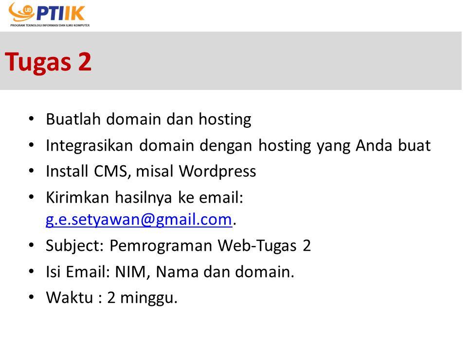 Tugas 2 Buatlah domain dan hosting