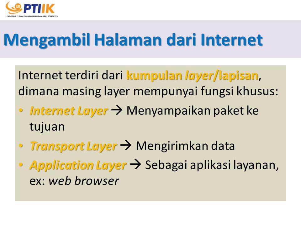 Mengambil Halaman dari Internet