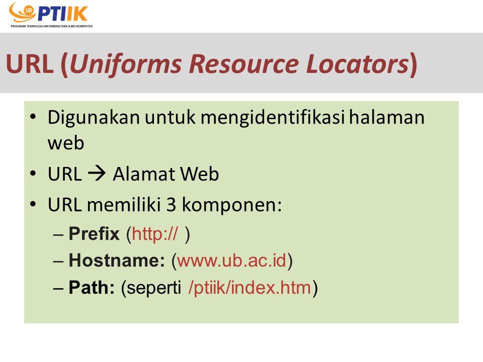 URL (Uniforms Resource Locators)
