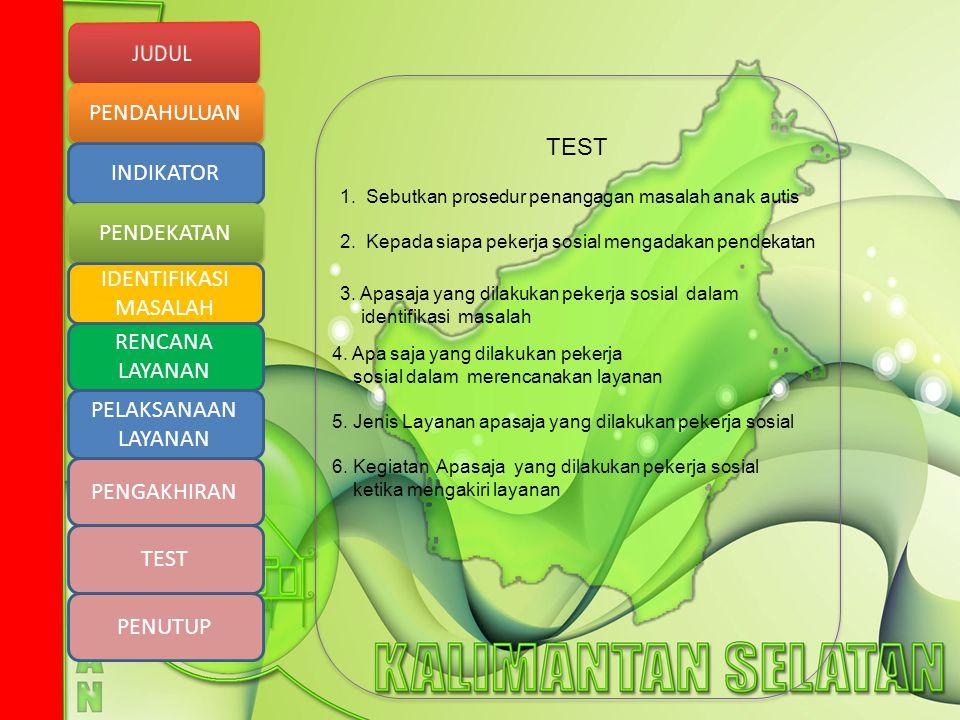 TEST 1. Sebutkan prosedur penangagan masalah anak autis