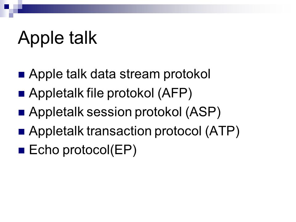 Apple talk Apple talk data stream protokol