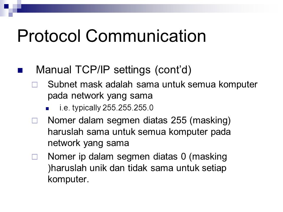 Protocol Communication