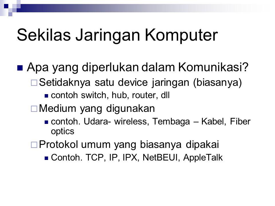 Sekilas Jaringan Komputer