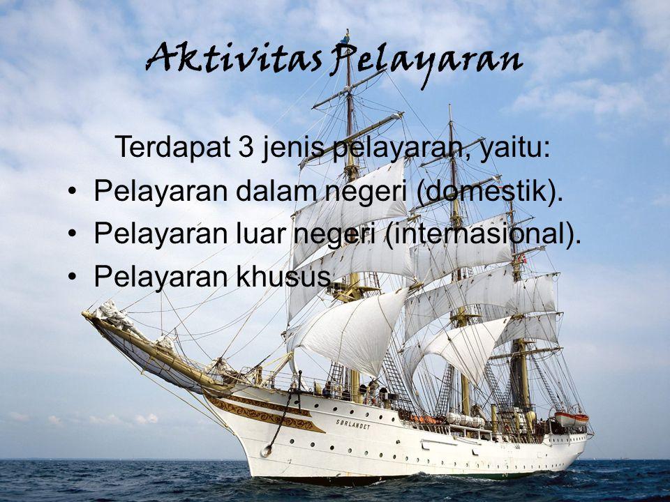 Aktivitas Pelayaran Terdapat 3 jenis pelayaran, yaitu: