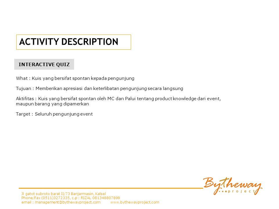 ACTIVITY DESCRIPTION INTERACTIVE QUIZ