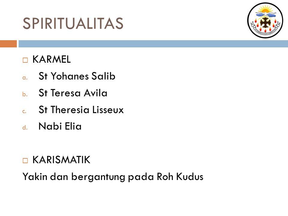SPIRITUALITAS KARMEL St Yohanes Salib St Teresa Avila