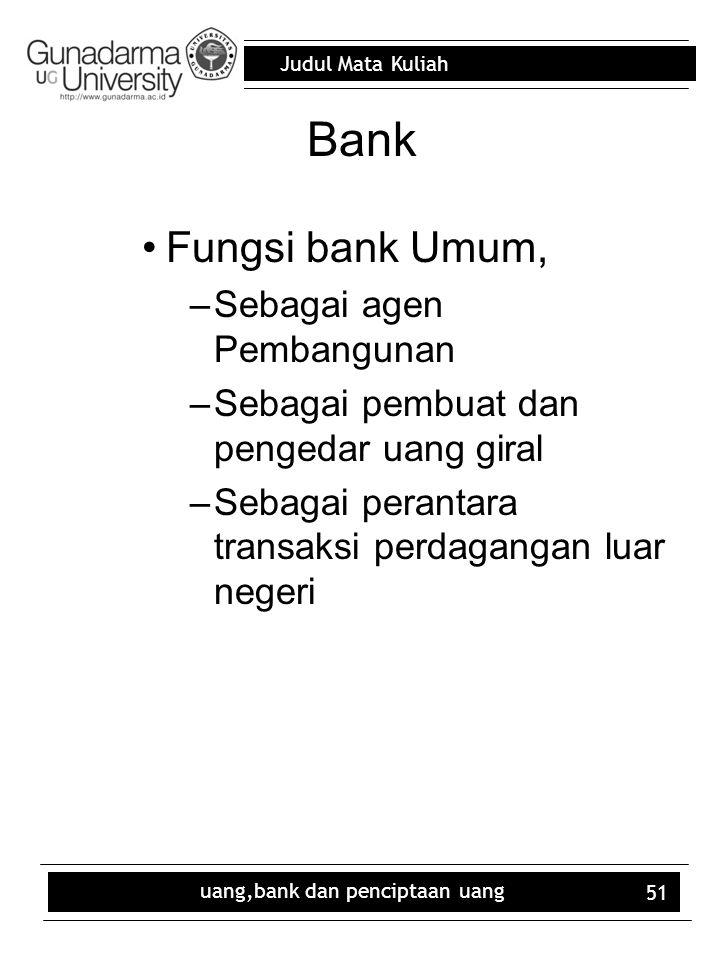 uang,bank dan penciptaan uang
