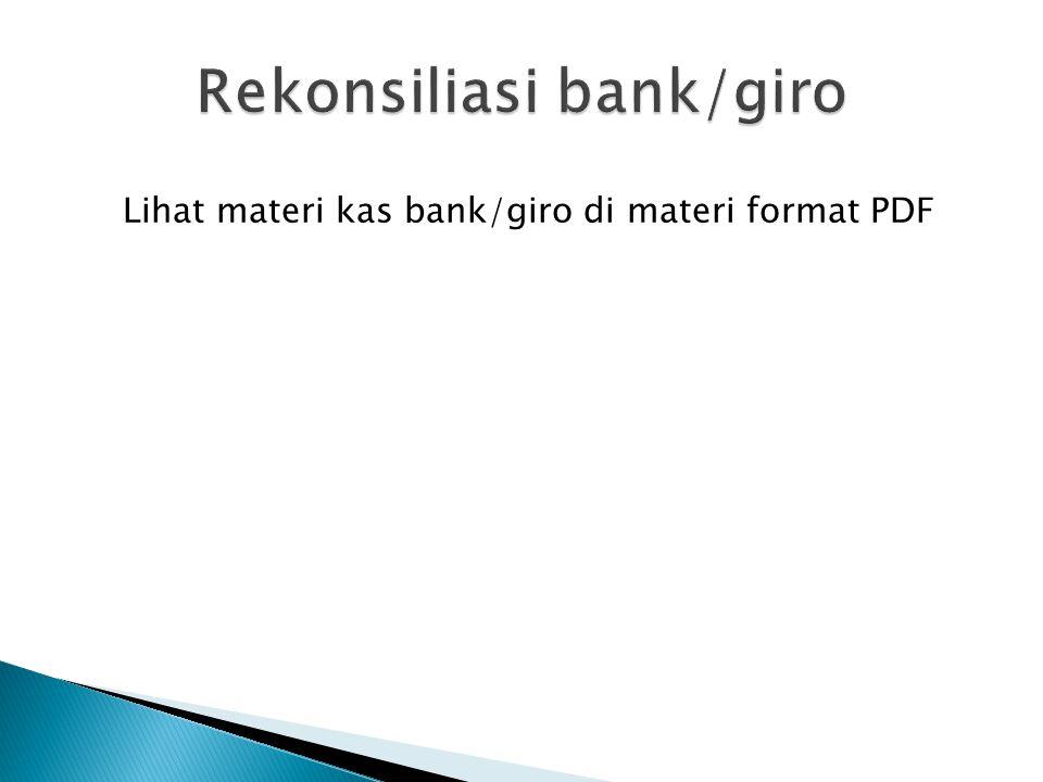 Rekonsiliasi bank/giro