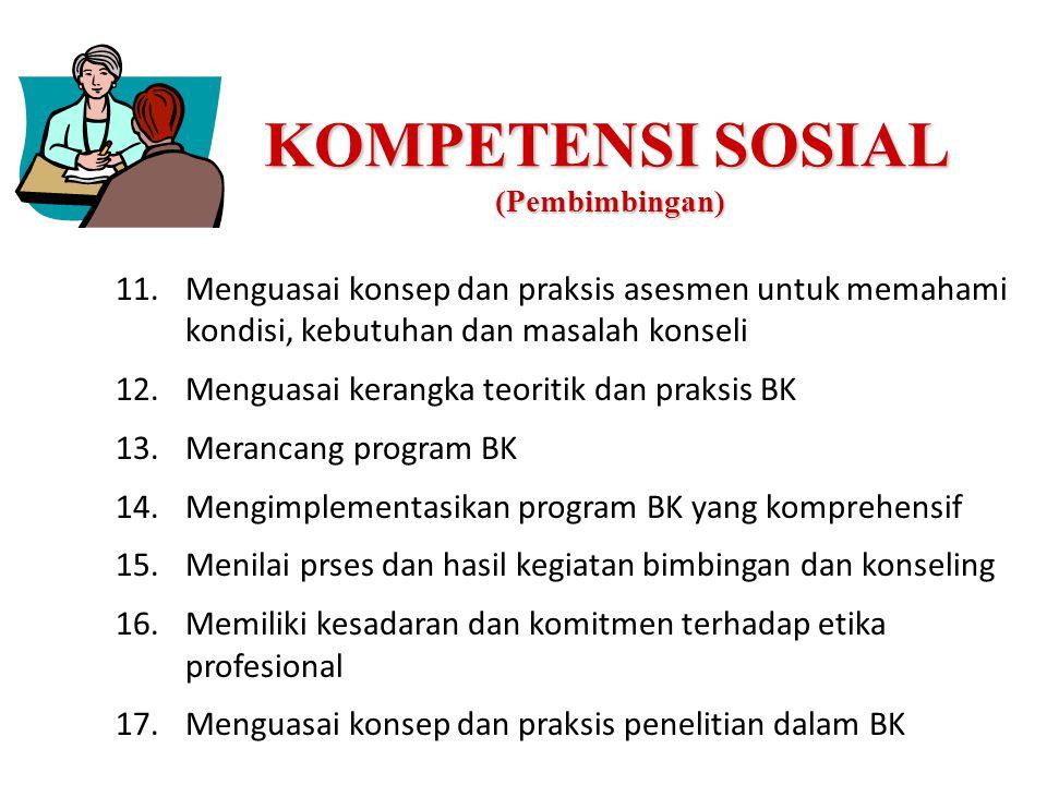 KOMPETENSI SOSIAL (Pembimbingan)