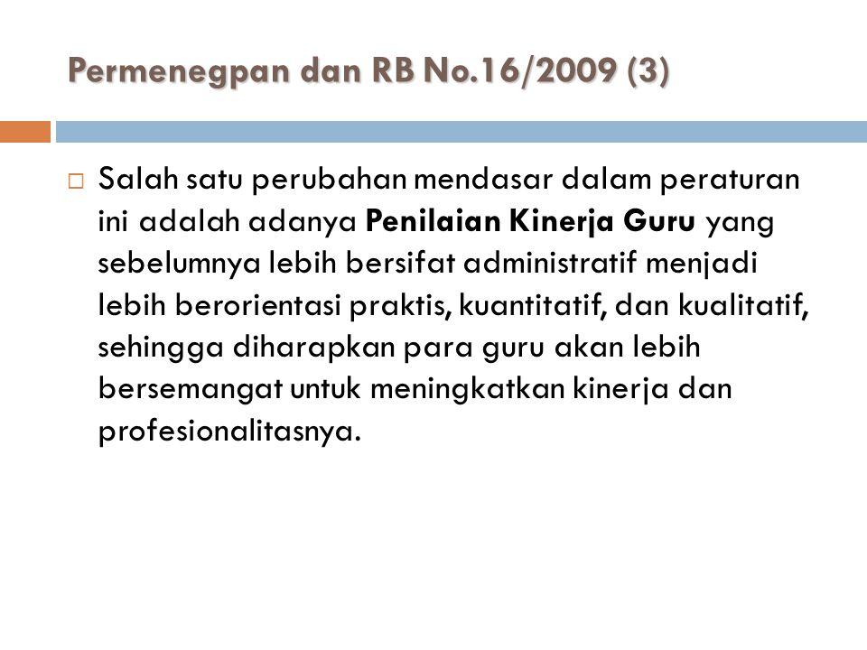 Permenegpan dan RB No.16/2009 (3)